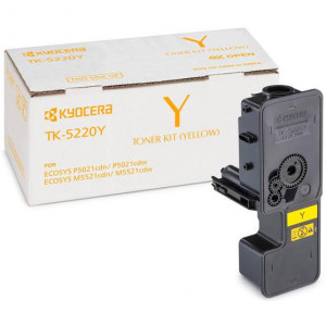 Тонер-картридж Kyocera TK-5220Y  Yellow для P5021cdn/cdw, M5521cdn/cdw (1 200 стр.), арт. 1T02R9ANL1