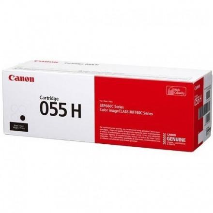 Тонер CANON 055H BK увеличенный черный для MF746Cx, LBP664Cx (3020C002)