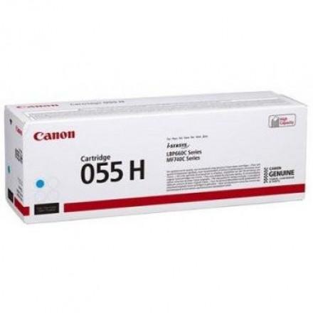 Тонер CANON 055H C увеличенный синий для MF746Cx, LBP664Cx (3019C002)