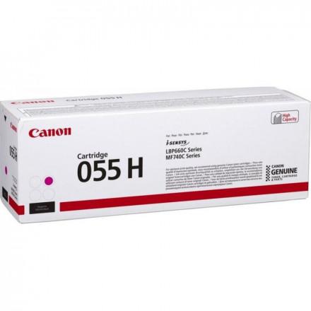 Тонер CANON 055H M увеличенный малиновый для MF746Cx, LBP664Cx (3018C002)