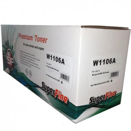 Картридж SuperFine SF-W1106A (Без чипа) для HP W1106A Laser-107/135/137 1K