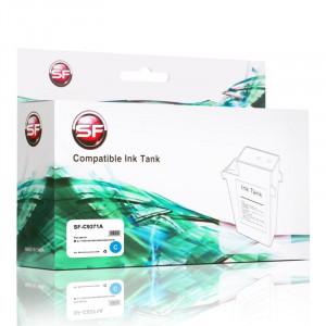 Картридж SuperFine SF-C9371A для HP C9371А DJ T1100/1120/1200/1300/610/620/770/790 Cyan