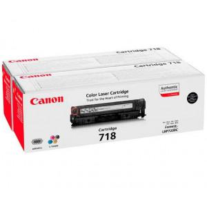 Тонер-картридж CANON 718Bk2P к LBP 7200/MF8330/8350 черный двойной оригинал