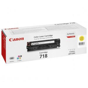 Тонер-картридж CANON 718Y к LBP 7200/MF8330/8350 желтый оригинал