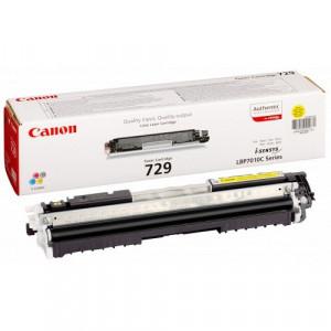 Тонер-картридж CANON 729Y к (i-SENSYS LBP7010C/LBP7018C) желтый оригинал
