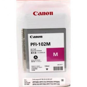 Картридж для плоттера Canon IPF500/600/700 PFI-102M пурпурный