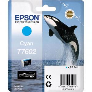 Картридж EPSON C13T76024010 для Epson T760 SC-P600 синий