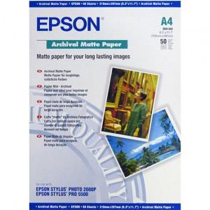 S041342 Epson  Матовая архивная бумага, A4, 50 листов, 192 г/м2