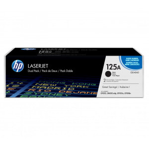 CB540AD Картридж HP CLJ CP1215/1515/1518/CM1312 (125A) черный, 2 шт/уп, оригинал