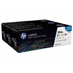 CC531A /532/533 Набор картриджей HP 304A CYM Tri-Pack LaserJet Toner Cartridge