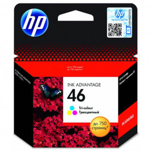 Картридж HP CZ638AE №46 Tri-Colour Ink Print Cartridge ориг.