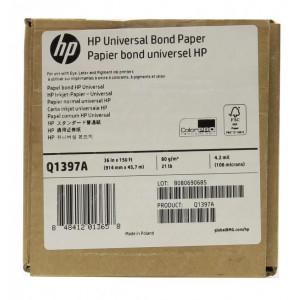 Q1397A Универсальная бумага HP 80г/м– 914 мм x 45,7 м (36 д. x 150 ф.)